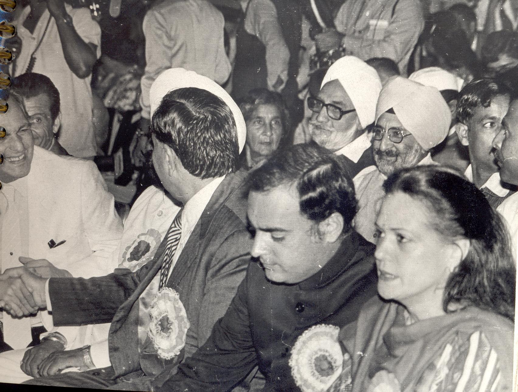 17. Mr. Rajiv Gandhi MP with Mrs. Sonia Gandhi