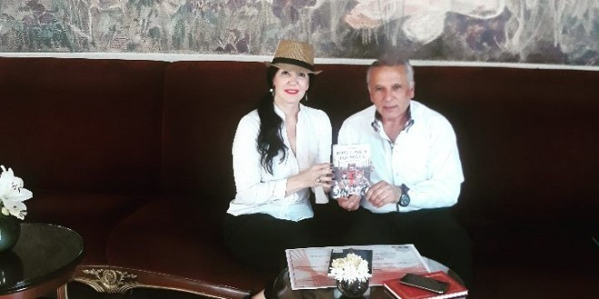 PRESIDENT OF THE INSTITUTE FOR EUROPEAN ROMA STUDIES AND RESEARCH ON CRIMES AGAINST HUMANITY AND INTERNATIONAL LAW, BAJRAM HALITI, AWARDED SERBIAN WRITER MARIA VICTORIA WITH AN AKNOWLEDGEMENT